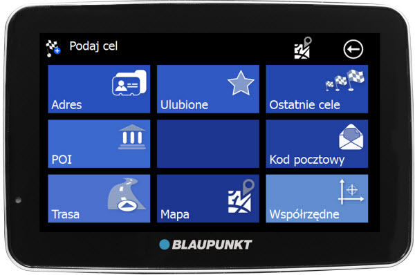 Blaupunkt TravelPilot 40 50 pl screen